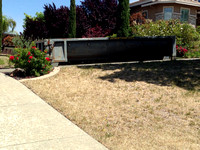 And on the first day, the city delivered a dumpster.